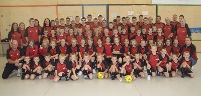 Dalry Rovers Players and Coaches 2009 Pictured with New Training Kit
