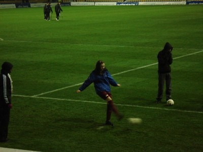 one of the girls in the penalty shoot out
