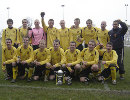 Crossflatts with the PC Sports Lge Cup after drubbing Shipley Town 6-0 in last seasons final at Thackley Afc