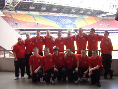 CKYL 15s League Select 2007/8 at the Amsterdam Arena during their trip to Holland May 2008