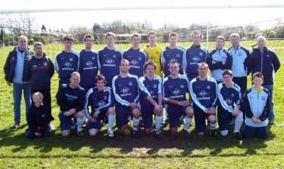 South Glos (Hambrook) FC - Premier Two Champions 2007/8 Back (L-R) Mike Carpenter (Sec), Paul Vardy (Asst Mgr), Mike Best, Si Williams, Joe Towler, Clayton Towler, Mitch Dodsworth, Rich Gardiner, Shae Mitchell, Craig Trott, Dave Wilson (Mgr), Colin Gould (Chairman) Front (L-R) Ashley Wilson (Mascot), Carl Pike, Mike Millett, Sam Vile, James Hodder, Ben Hopson, Neil Rogers, Jimmy Pittaway, Mitch Vardy (Mascot) Missing from photograph : Darren Gould, Jason Brooks