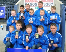 Galston age tens with their FAIR PLAY MEDALS and SALVA