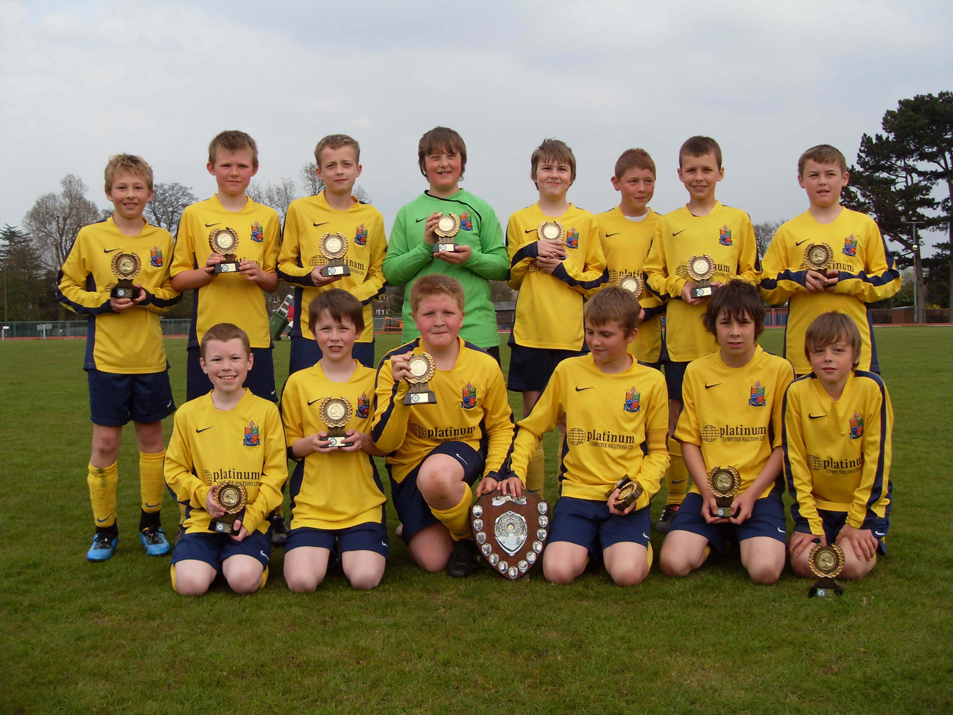 Eccleshall Eagles under 12s shield winners