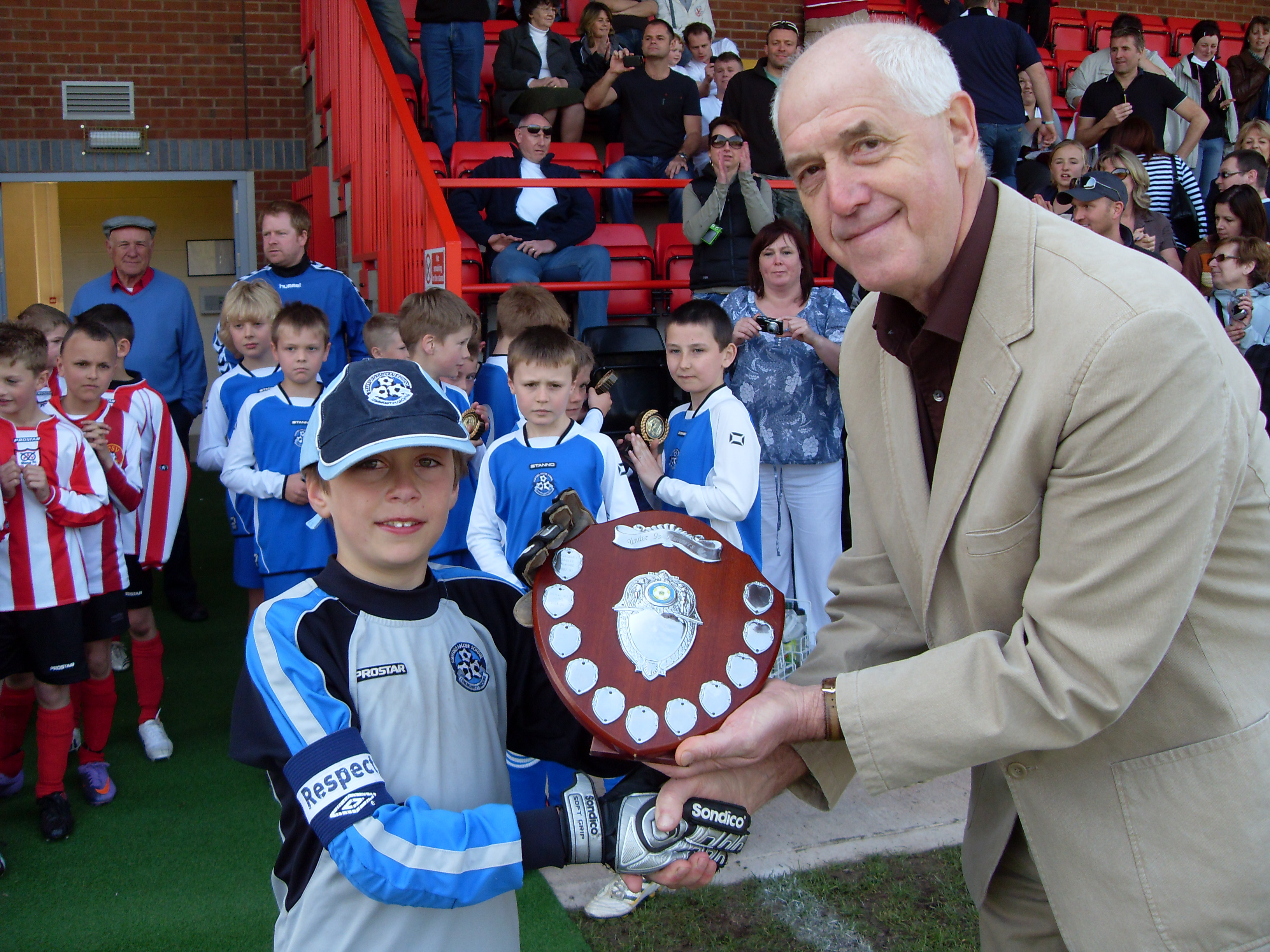 Stafford Soccer Sch Captain under 9s runners up shield