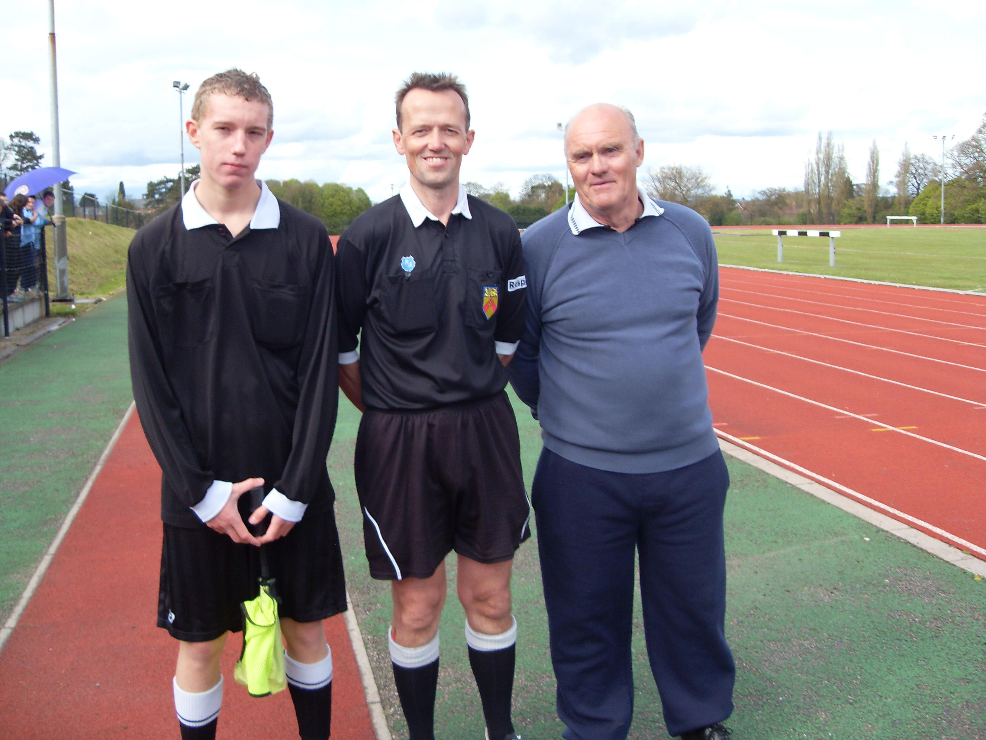 ref;Tom Fwcett with Des Robinson & dom ward 15s cup final