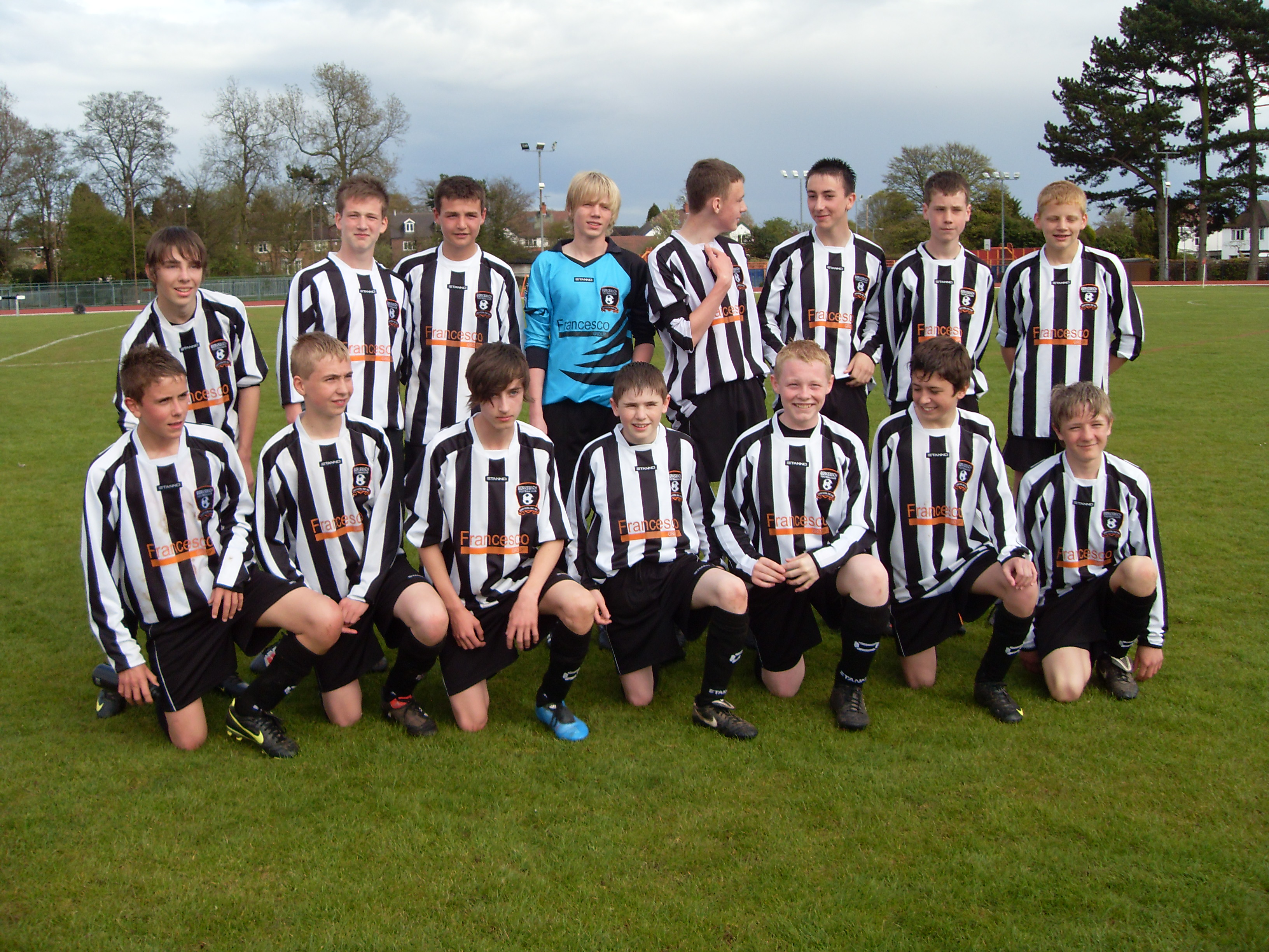 Berkswich under 14s Cup Winners & League Champions 2010
