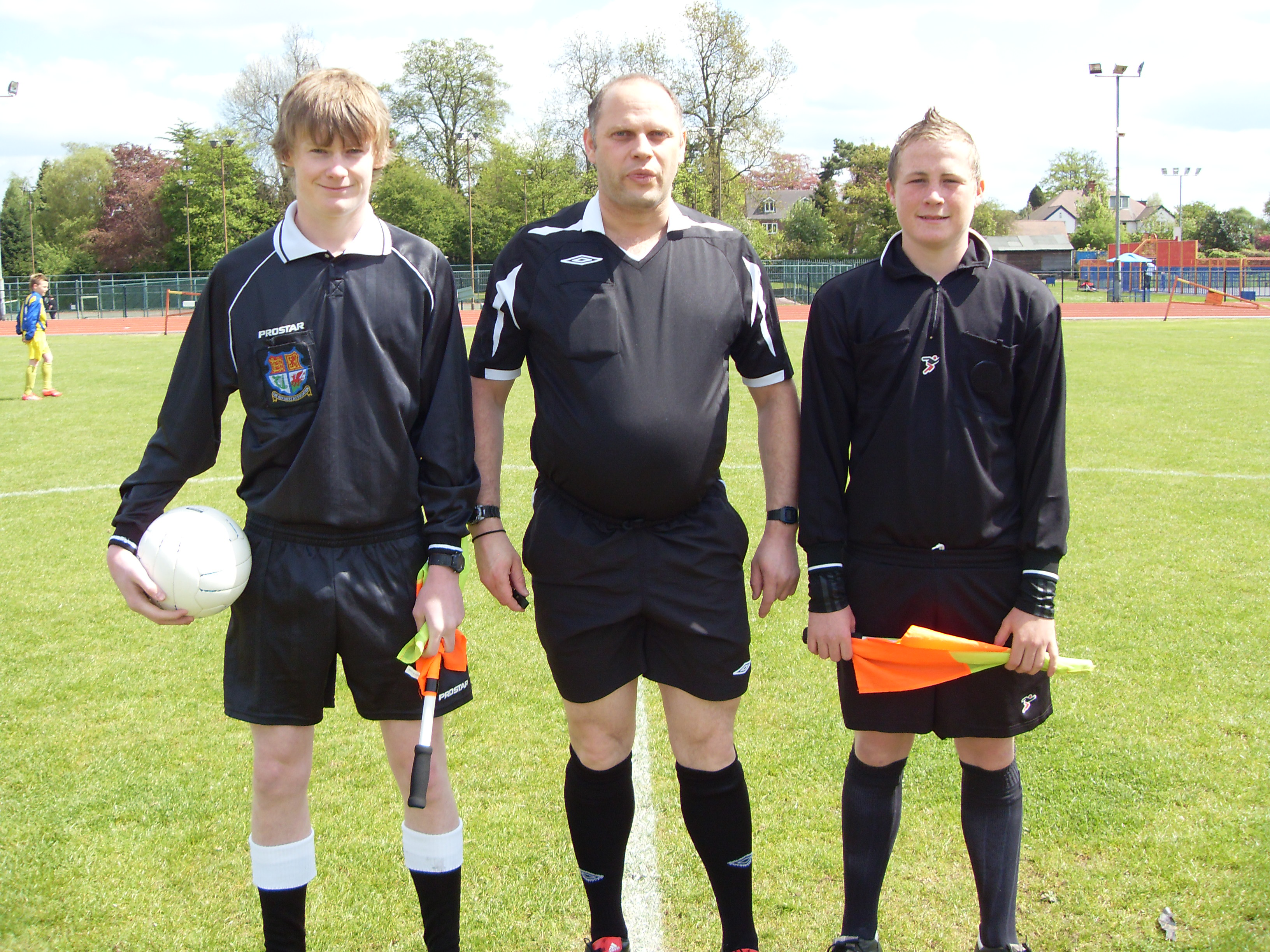 Ref Andy Farmer Asst Matt Thickett & Sam Fleming 14s final