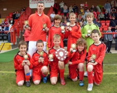Stafford Town Stars under 11s runners up shield