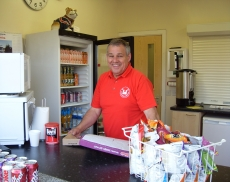 Keith Mottershead at the new Stafford Town snack bar