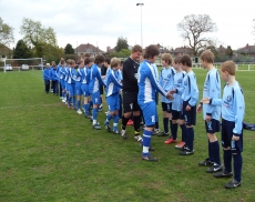 both teams showing respect campaign in under 13s final