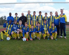 AFC Stone runners up Under 14s shield final
