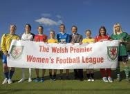 Swansea City Ladies winning the inaurgeral title in 2009/10